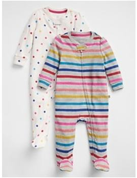 Print Footed One Piece (2 Pack) by Gap