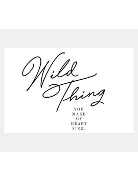 Wild Thing You Make My Heart Sing Wall Art By Honeymoon Hotel by Pottery Barn Kids