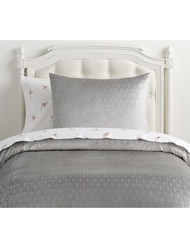 The Emily & Meritt Shimmer Velvet Duvet Cover by Pottery Barn Kids