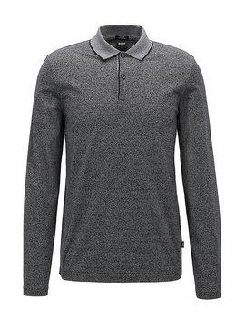 Slim Fit Polo Shirt In Mercerized Mouliné Cotton by Boss