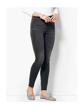 Comfort Stretch Denim Jeggings   Steel Grey by Talbots