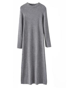 'blake' Crewneck Knitted Maxi Dress (5 Colors) by Goodnight Macaroon
