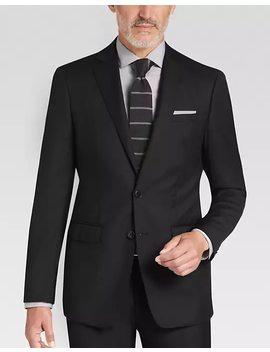 Calvin Klein Black Slim Fit Suit by Mens Wearhouse