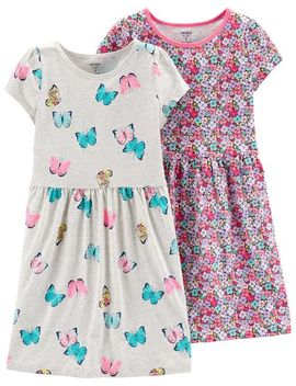 2 Pack Jersey Dress Set by Carter's