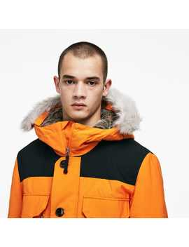 Unisex Live Water Resistant Canvas Quilted Parka by Lacoste