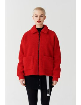 Lazy Oaf Always Watching Zip Fleece Jacket by Lazy Oaf