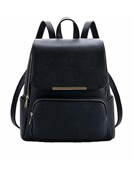 Trendy Age   Metal Flap Leather Backpack With Pouch Latest Women Handbags Top Bagpack For School Girls by Trendy Age