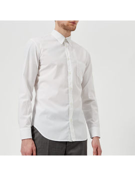 Maison Margiela Men's Cotton Poplin Ready To Dye Slim Fit Shirt   White by Maison Margiela
