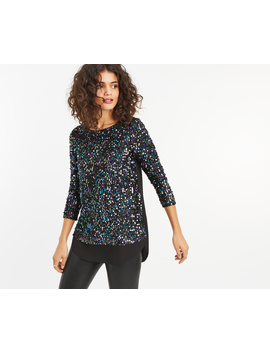 Sequin Tinsel Top by Oasis