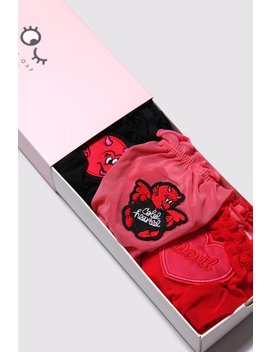 Lazy Oaf No Angel Knickers Set by Lazy Oaf
