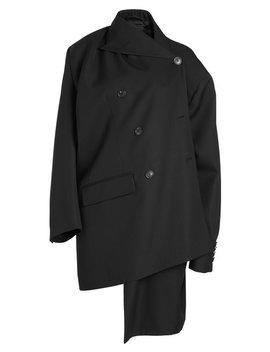Asymmetric Virgin Wool Coat by Balenciaga
