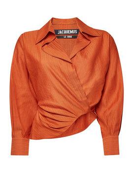 La Chemise Sabah Blouse With Cotton And Linen by Jacquemus