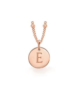 Rose Gold E Initial Necklace by Missoma