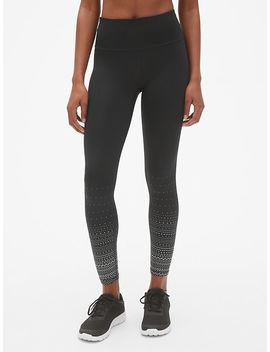 Gap Fit Winterbrush High Rise Reflective Print Full Length Leggings by Gap