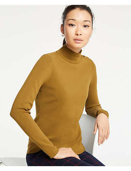 Shoulder Button Turtleneck Sweater by Ann Taylor