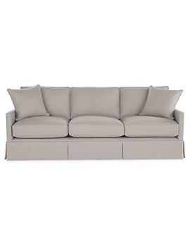 "Dumont Sofa, Gray Linen by [""One Kings Lane""]"