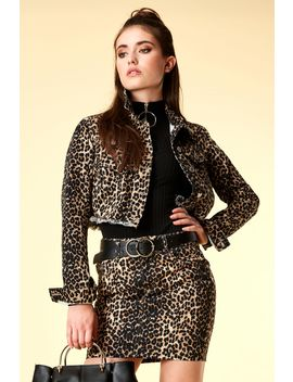 Leopard Print Clean Cropped Jacket by Select