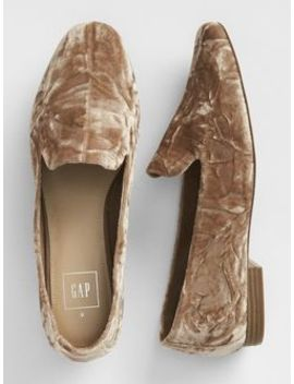 Crushed Velvet Loafers by Gap