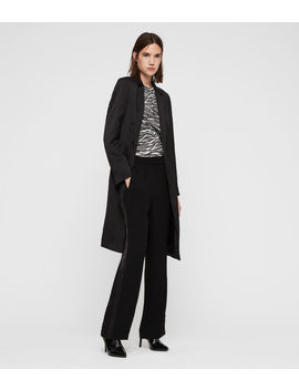 Nehru Satin Coat by Allsaints