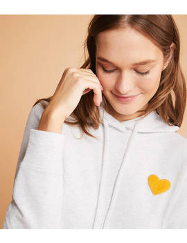 Lou & Grey Conscious Cotton Heart Patch Hoodie by Lou & Grey