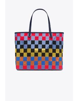 Checkered Mesh Tote by Tory Burch