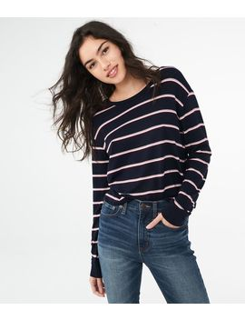 Long Sleeve Striped Tomboy Tee by Aeropostale