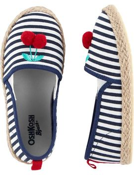Osh Kosh Cherry Stripe Slip On Shoes by Oshkosh