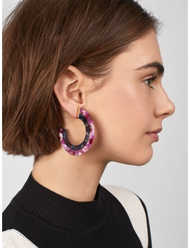Deisy Resin Hoop Earrings by Baublebar