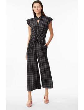 Plaid Silk Jumpsuit by Rebecca Taylor