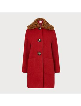 Aster Red Wool Coat by L.K.Bennett