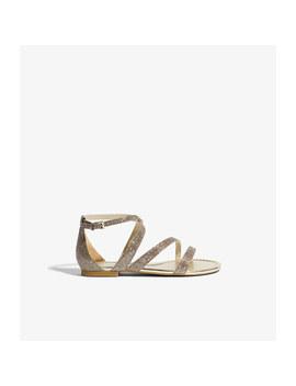 Glitter Strappy Sandals by Karen Millen