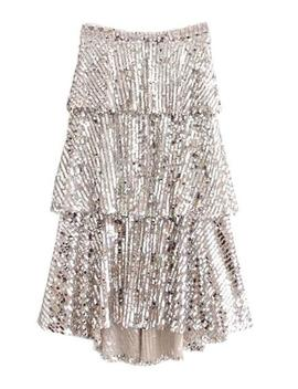 'amiee' Sequinned Midi Skirt by Goodnight Macaroon