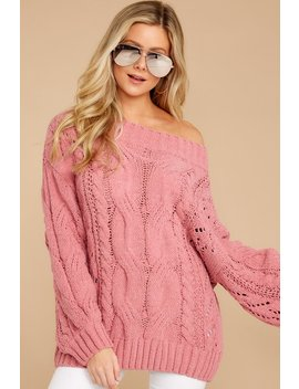 Something Is Calling You Pink Sweater by Miracle