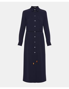 Classic Crepe Belted Shirtdress by Theory