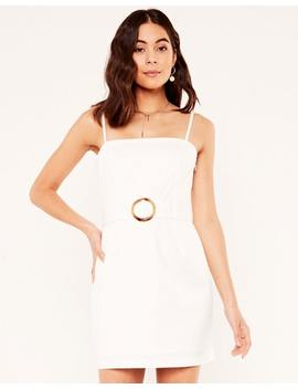 Belted Mini Dress by Glassons