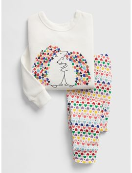 Heart Hedgehog Pj Set by Gap