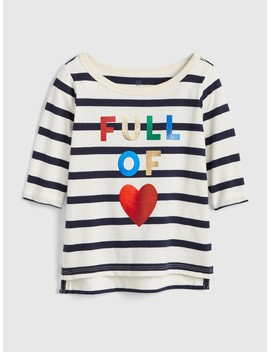 Graphic Elbow Length Sleeve T Shirt by Gap