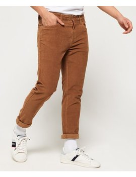 Slim Tyler Cord Five Pocket Trousers by Superdry