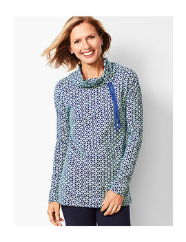 Geo Print Funnel Neck Top by Talbots