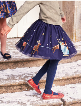 Appliqué Tulle Skirt by Boden