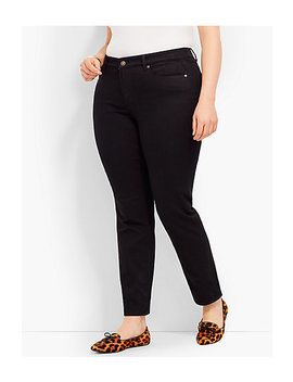 Plus Size Exclusive Comfort Stretch Denim Slim Ankle Jeans Black by Talbots