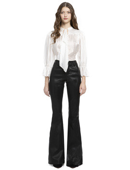 Danika Tie Neck Gathered Blouse by Alice And Olivia