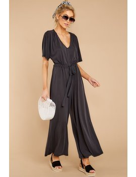 Not My Fault Black Jumpsuit by Lush