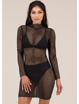 Fishnet For Compliments Minidress by Go Jane