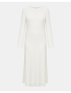 Textured Cady A Line Dress by Theory