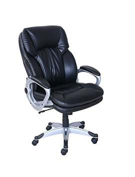 Serta Big & Tall Bonded Leather Executive Chair, Black (7980) by Staples