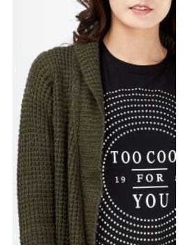Shawl Collar Stitch Cocoon Cardigan by Select