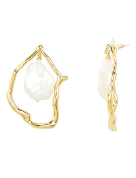 Formation Pearl Earrings by Lizzie Fortunato