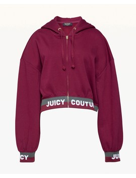 Jacquard Juicy Fleece Hooded Jacket by Juicy Couture