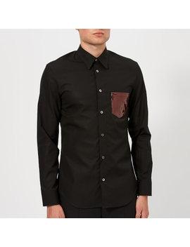 Maison Margiela Men's Plastic Pocket Poplin Shirt   Black by Maison Margiela